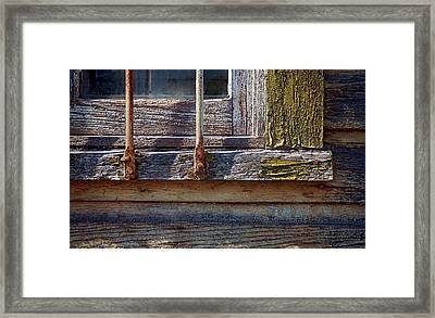 Colorful Old Window Framed Print