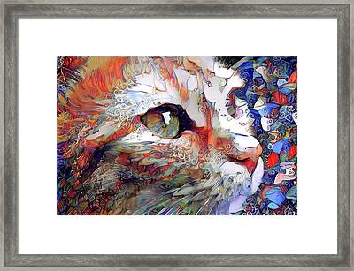 Colorful Orange Cat Art Framed Print