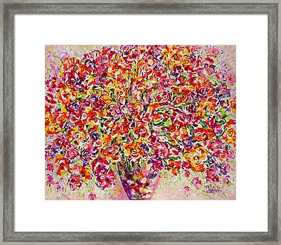 Framed Print featuring the painting Colorful Organza by Natalie Holland