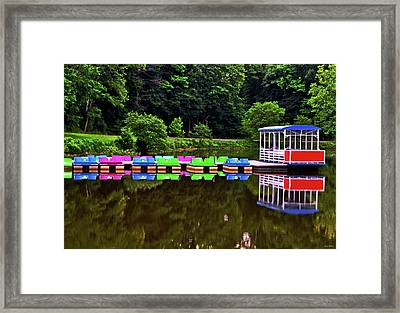 Colorful Paddle Boats 001 Framed Print