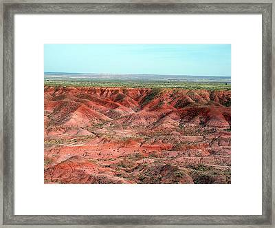 Colorful Painted Desert Framed Print by Jeanette Oberholtzer