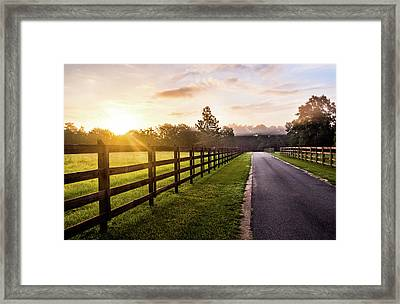 Framed Print featuring the photograph Colorful Palette At Sunrise by Shelby Young