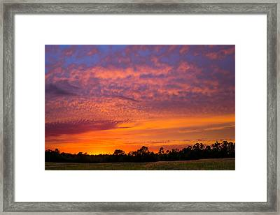 Colorful Palette In The Sky Framed Print by Shelby Young