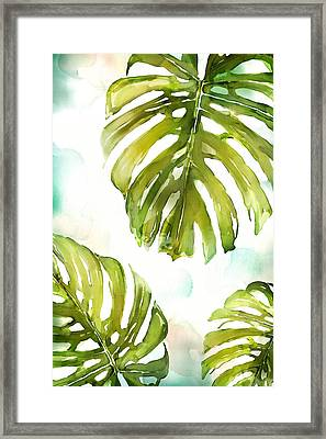 Colorful Palm Framed Print by Mauro DeVereaux