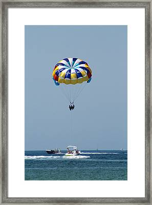 Colorful Parasailing Framed Print