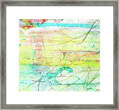 Colorful Pastel Art - Mixed Media Abstract Painting Framed Print