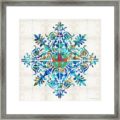 Colorful Pattern Art - Color Fusion Design 5 By Sharon Cummings Framed Print