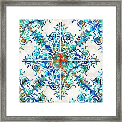 Colorful Pattern Art - Color Fusion Design 6 By Sharon Cummings Framed Print