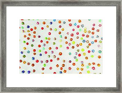 Colorful Pattern Made Out Of Many Tiny Mushrooms Framed Print