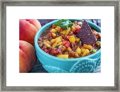 Colorful Peach Salsa Framed Print