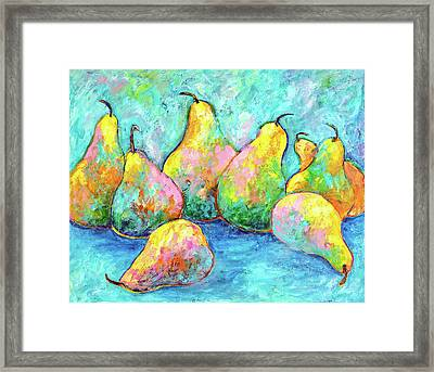 Colorful Pears Framed Print