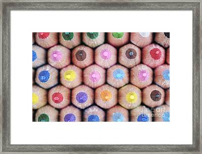 Colorful Pencils 2 Framed Print by Neil Overy