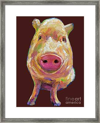 Colorful Pig Painting Framed Print