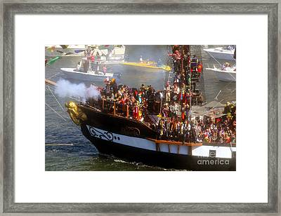 Colorful Pirates Framed Print
