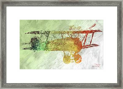 Colorful Plane Art Framed Print