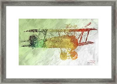 Colorful Plane Art Framed Print by Ken Figurski