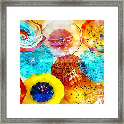 Colorful Plates Framed Print by Artist and Photographer Laura Wrede