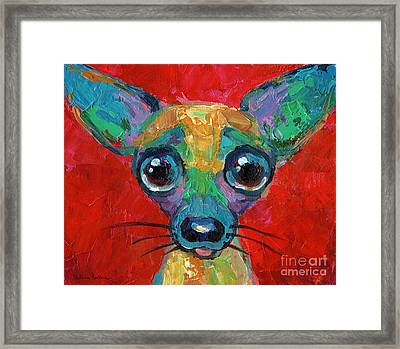 Colorful Pop Art Chihuahua Painting Framed Print