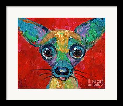 Big Eye Dog Framed Prints