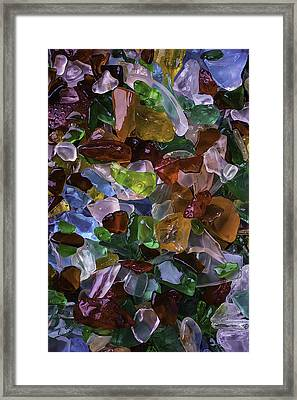 Colorful Pretty Sea Glass Framed Print
