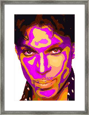 Colorful Prince - Purple Framed Print