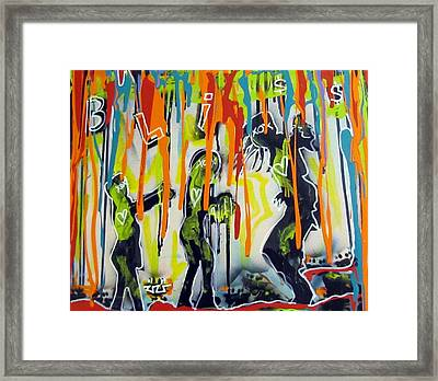 Colorful Rain And Bliss Framed Print