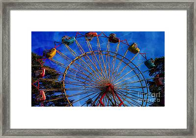 Colorful Ride Framed Print by Sherman Perry