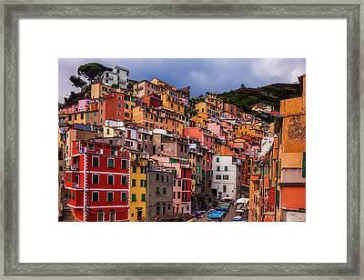 Colorful Riomaggiore Framed Print