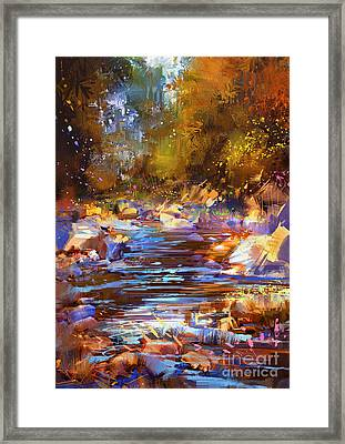 Colorful River Framed Print