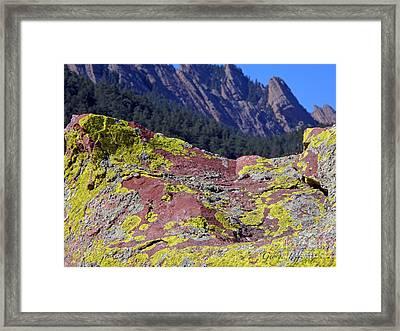 Colorful Rock Mesatrail Framed Print