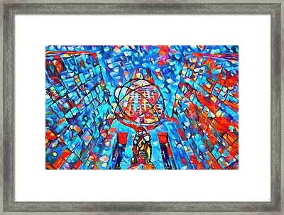 Colorful Rockefeller Center Atlas Framed Print by Dan Sproul
