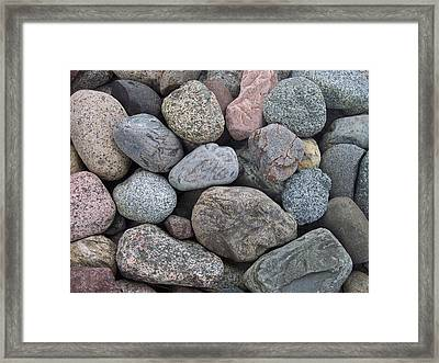 Framed Print featuring the photograph Colorful Rocks by Richard Bryce and Family