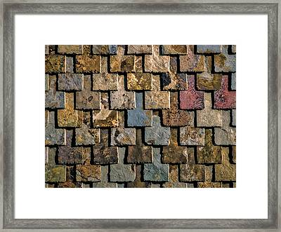 Colorful Roof Tiles Framed Print by Wim Lanclus