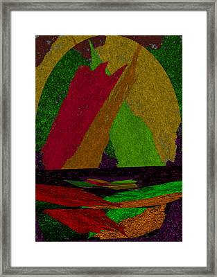 Framed Print featuring the drawing Colorful Room by Michelle Audas