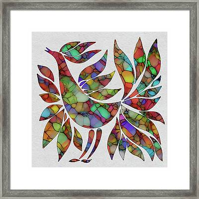Colorful Rooster Framed Print by Jack Zulli