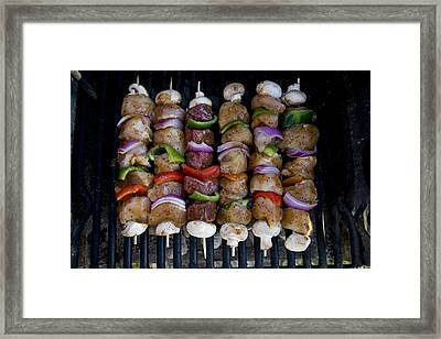 Colorful Rows Of Shishkabobs Cook Framed Print