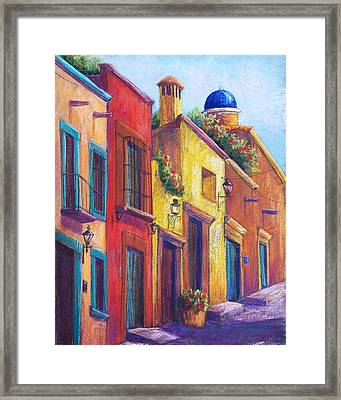 Colorful San Miguel Framed Print by Candy Mayer