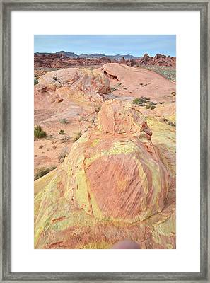 Framed Print featuring the photograph Colorful Sandstone In North Valley Of Fire by Ray Mathis