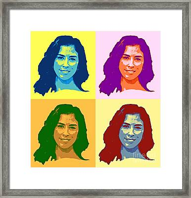 Colorful Sarah Silverman Art Framed Print by Ps