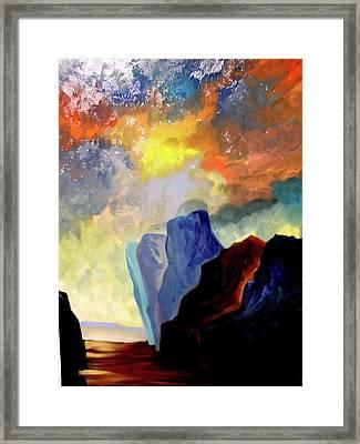 Colorful Scape Framed Print by Joe Santana
