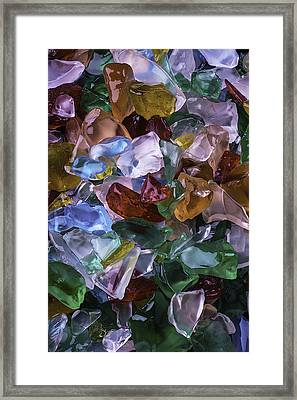 Colorful Sea Glass Framed Print