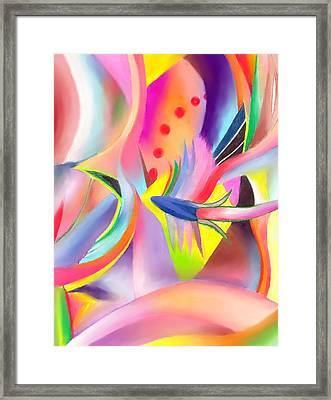 Colorful Sea Framed Print by Peter Shor
