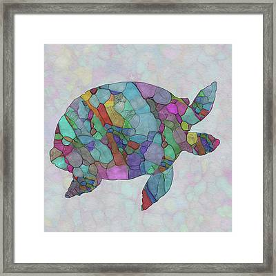 Colorful Sea Turtle Framed Print by Jack Zulli