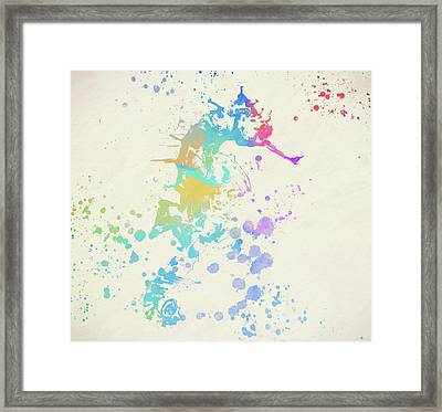 Colorful Seahorse Framed Print by Dan Sproul