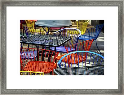 Colorful Seating Framed Print