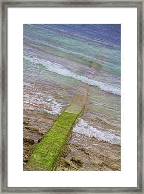 Colorful Seawall Framed Print