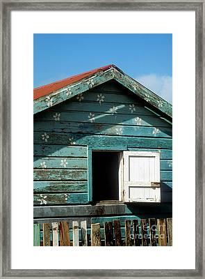 Colorful Shack Framed Print by John Greim