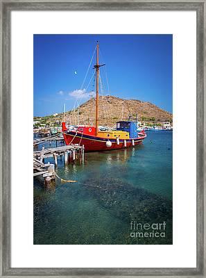 Colorful Ship Framed Print