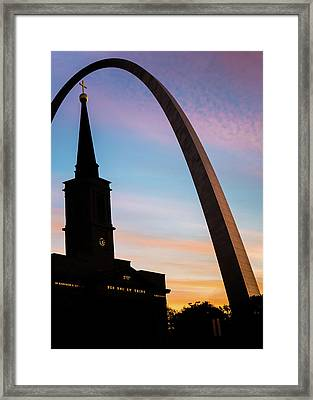 Colorful Silhouettes Of Saint Louis Framed Print