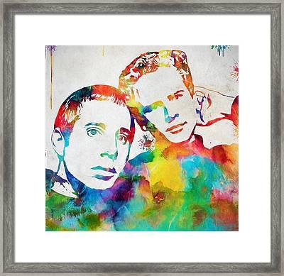 Colorful Simon And Garfunkel Framed Print